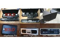 Job Lot of PA Gear, QSC (Shure) 2400W Amp, 2 x 1000W Peavey Speakers, KAM Powerbar LED Lights