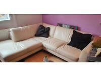 Corner sofa beige £60 ONO