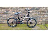 18 inch wheel bmx bike, Alley Hood in black.