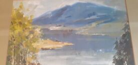 VINTAGE WATERCOLOUR - FRANK DUFFIELD - LAKELAND SCENE