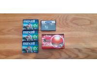Mini DV Tapes, Mini DV head cleaning tape, Video8 tape