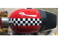 Cafe racer seat unit with rear light