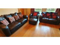 For Sale 3-2-1 Leather Sofa