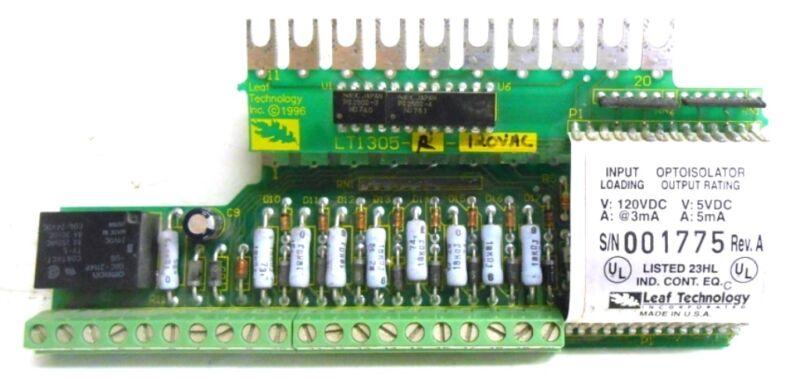 LEAF TECHNOLOGY PC BOARD OPTOISOLATOR, LT1305-R-120VAC
