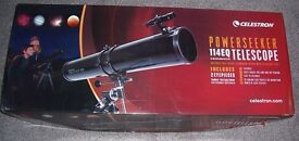 Telescope as new boxed - Celestron Powerseeker 114EQ
