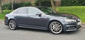 AUDI A4 2.0 TDI S LINE QUATTRO AUTO 2016 GREY 1 OWNER FULL AUDI DEALER SERVICE HISTORY P/X WELCOME