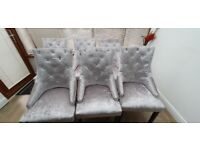 Dining knocker back chairs x 6