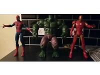 Set of 3 super hero's that make various sounds