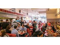 Waiter/Waitress Full Time Eds Easy Diner Cardiff, Great rate of pay and tips & share of the tronc