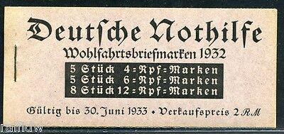 Dt. Reich Nothilfe 1932 Markenheftchen** (S4709)