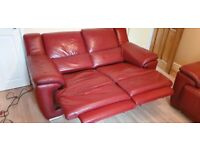 3 seater and 2 seater La-Z-boy leather sofas recliners excellent condition