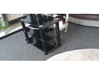 Black tv stand small