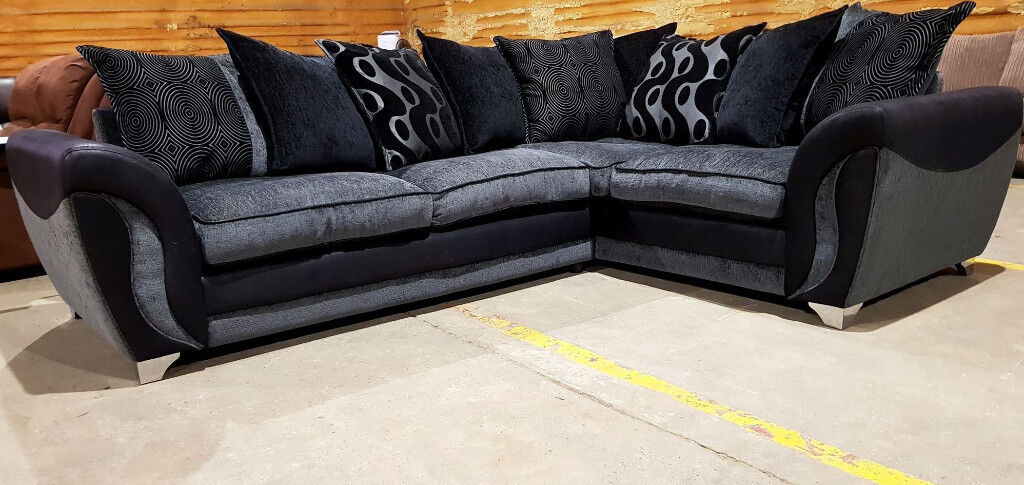 huge selection of b6d3b e4f10 Dfs Corner Sofa - Grey/Black. | in Colchester, Essex | Gumtree