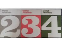 Three x Mental Arithmetic books 2, 3, 4 - Maths Mathematics books/book – post or collect