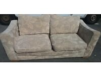 Floral Pattern Three Seated Fabric Sofa