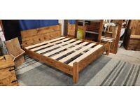 Superking Low Foot Bed in Medium Oak
