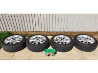 """Mini Countryman R60 - 5 Stud 17"""" Alloy Wheels And Tyres 205/55/17 USED"""