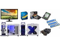 """CUSTOM BUILT PC AND MONITOR i3 3220 @ 3.3GHz 6GB RAM 1TB HDD with 24"""" ACER HDMI Monitor LED 1080p"""