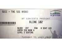 2 x BLINK 182 TICKETS - SSE HYDRO GLASGOW 11/07/17
