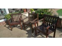 Solid wood patio chairs