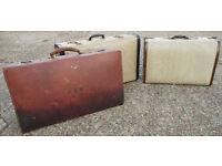3 Vintage Suitcases