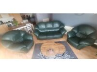 3 Piece Leather Suite 3,1,1 Free for collection