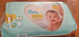 Pampers size 2nappy and baby food for free