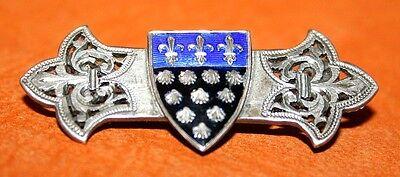 Pin Coat of Arms Village de La Sleeve Enamelled of Fleurs de Lys - to the 1900