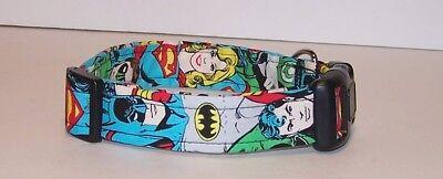 Wet Nose Designs DC Comics Batman & Superman Dog Collar Superhero  - Superhero Dog Collars