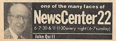 1977 Wwlp Tv Ad John Quill Newscenter 22 News Reporter One Of Many Faces