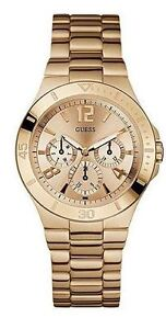 AUTHENTIC GUESS LADIES ACTIVE SHINE ROSE GOLD STAINLESS STEEL WATCH U13624L1 NEW