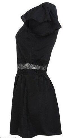 Miss Selfridge New Ladies Cap Sleeves Black Lace Insert Playsuit.Size 12.