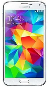 Galaxy S5 16 GB White Unlocked -- 30-day warranty, blacklist guarantee, delivered to your door