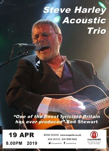 2 tickets for Steve Harley Acoustic Trio (SOLD OUT) Cockney Rebel - Cardiff  - Friday 19th April | in Swindon, Wiltshire | Gumtree