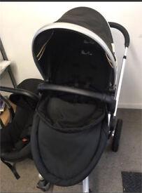 Silver Cross Surf travel system pushchair pram car seat baby carrier