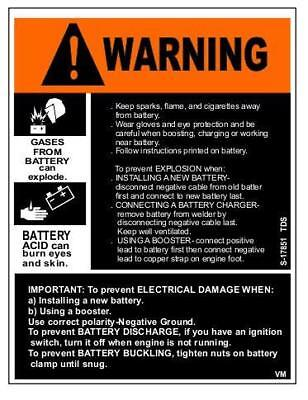 Lincoln Welders Pipeliner Warning Official Decal Part S17851 Uv Laminated