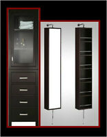 FREE STANDING LINEN CABINETS & WALL MOUNTED SPINNY TOWERS
