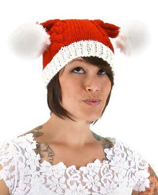 elope Knit Santa Hat, Multi-Colored, One Size (Knit Santa Hat)