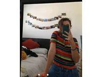 Stripy multi coloured top
