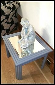 Stunning Unique Shabby Chic Wood Mirror Coffee Table - Free Delivery