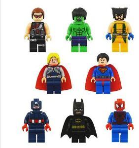 Super Hero Avengers/DC Lego Compatible Minifigure Toys 8 PCS $20
