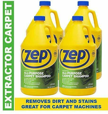Zep All-Purpose Carpet Shampoo Concentrate 128Oz ZUCEC128(CarpetExtractor)4 Pack
