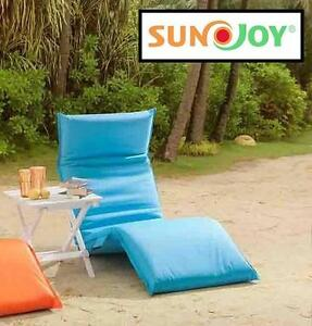 NEW* SUNJOY LOUNGE CHAIR CUSHION TURQUOISE OUTDOOR 110278591