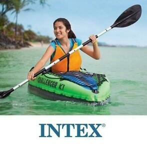 NEW INTEX CHALLENGER K1 KAYAK 68305EP 235792304 1 PERSON WITH PADDLES  AIR PUMP WATER SPORTS