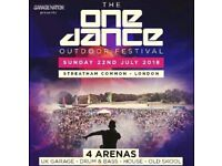 Selling 2x tickets to One Dance Festival
