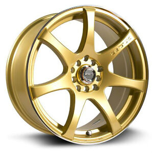 Roues (Mags) RTX Ink Or 15 pouces  4-100/114.3