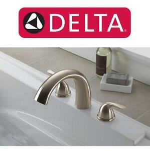 NEW DELTA ROMAN TUB TRIM FAUCET T2705-SS 250056620 STAINLESS STEEL SINK BATHROOM