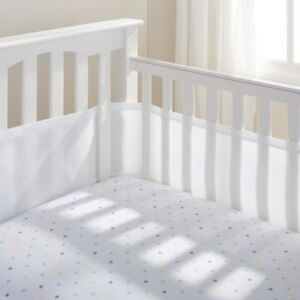BreathableBaby Breathable Mesh Crib Bumper - White