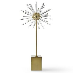 Williams Sonoma CB2 Acrylic & Metal Starburst Decoration-NEW