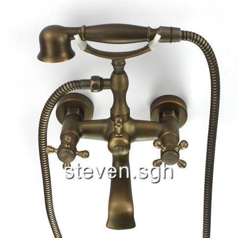 bathtub faucet with handheld shower ebay. Black Bedroom Furniture Sets. Home Design Ideas